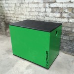 a green and black 3 in 1 plyo jump box