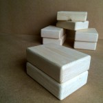 a stack of wooden gymnastic handstand blocks