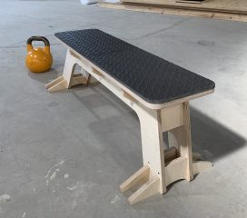 Home use flat weight bench.