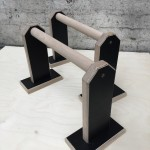black and natural set of parallettes